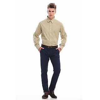 Jogur Olive Solids Full Sleeve Formal Shirt (JFS-403-3-LT-OLIVE)