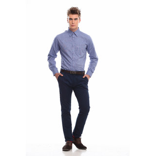 Jogur Blue Solids Full Sleeve Formal Shirt (JFS-408-LT-BLUE)