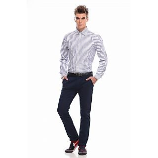 Jogur Blue Stripes Full Sleeve Formal Shirt (JFS-54-BLUE)