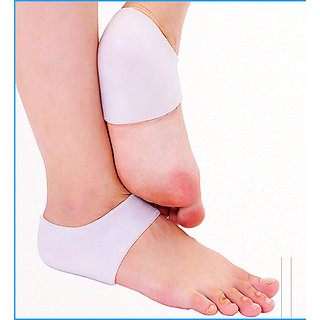 Silicone gel Heel socks moisturizing for cracked foot skin protector 1 pair.