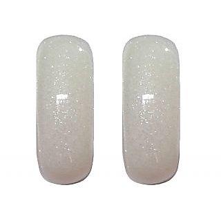 Trendy White Acrylic Light Weight Earrings - 658