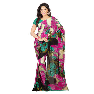 Florence Multicolor Faux Georgette Printed Saree (FL-10451)