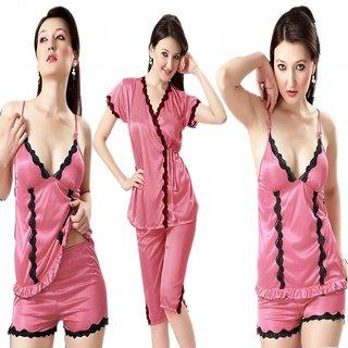 b41bc45f5f Hot N Sweet 2901 A Four Piece Onion Satin Nighty