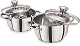 PRISTINE 4 Pieces Induction Compatible Sandwich Base Cookware/Casserole Set