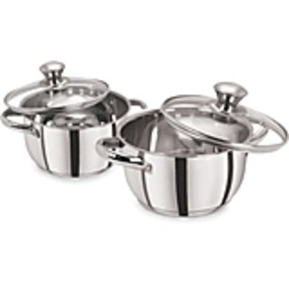 PRISTINE 4 Pieces Induction Compatible Sandwich Base Cookware/Casserole Set