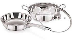 PRISTINE 3 Pieces Induction Compatible Sandwich Base Cookware Set