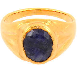 only4you 5.25 Ratti Blue Sapphire (Neelam) Panchdhatu Ring for Protection