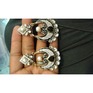 Modernistic Antique Copper Earrings