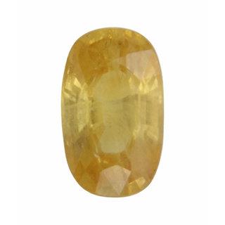 Vardan Gems 3.37 Oval Carat Ceylon Yellow Sapphire (Ceylon Pukhraj)