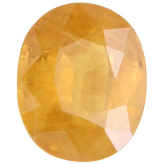 Vardan Gems 3.72 Oval Carat Yellow Sapphire (Pukhraj) Birthstone Gemstone
