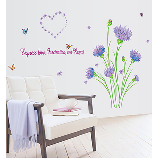 Asmi Collections Wall Stickers Wall Stickers Purple Carnation
