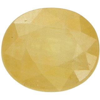 Vardan Gems 3.7 Oval Carat Yellow Sapphire (Pukhraj)Gemstone