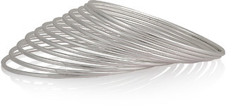 Simple Silver Plated Bangles for sisters BG-1886