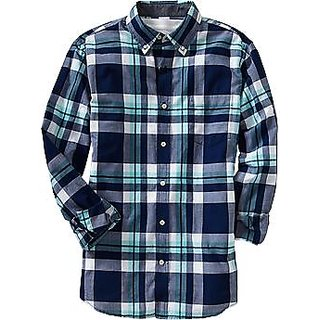 Men's Slim Fit Casual Shirt Blue