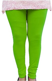 Raabta Neon Lime Green Cotton Lycra Legging RA-115