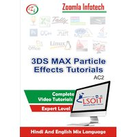 3DS MAX Particle Effects Video Tutorials DVD By Zoomla Infotech (Hindi-English Mix Language DVD)