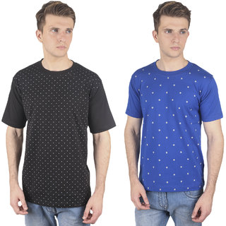Stylogue Mens Multicolor Round Neck Tshirt (Combo of 2)