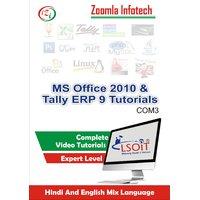 MS Office 2010+Tally ERP 9 Video Tutorials DVD By Zoomla Infotech (Hindi-English Mix Language DVD)