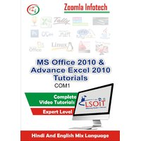 MS Office + Advance Excel Video Tutorials DVD By Zoomla Infotech (Hind-English Mix Language DVD)