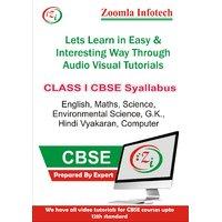 Class 1 CBSE English, Maths, Science, Environmental Science, G.k., Hindi Vyakaran, Computer Video Tutorials DVD By Zoomla Infotech