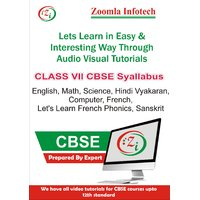 Class 7 CBSE English, Maths, Science, Computer, Hindi Vyakaran, French, Let's Learn French Phonics, Sanskrit Video Tutorials DVD By Zoomla Infotech