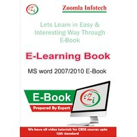 MS Word 2007/2010 E Learning Through E-Book Detailed Contents In CD/DVD By Zoomla Infotech