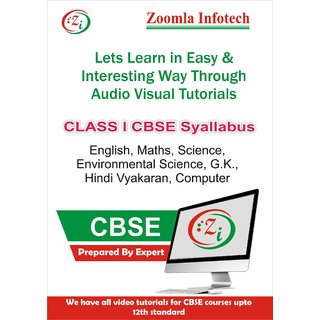 Class 1 CBSE English, Maths, Science, Environmental Science, G.k., Hindi Vyakaran, Computer Video Tutorials DVD By Zoomla Infotech