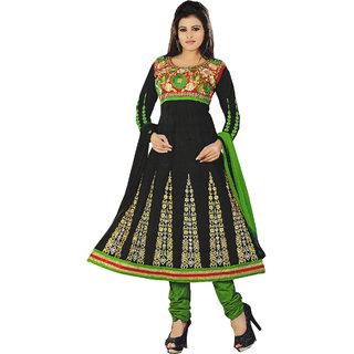 Smartindia  Black Jhilik Cotton Dress Material
