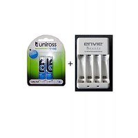 Uniross 2100 MAh Batteries With Envie AA Or AAA Battery Charger