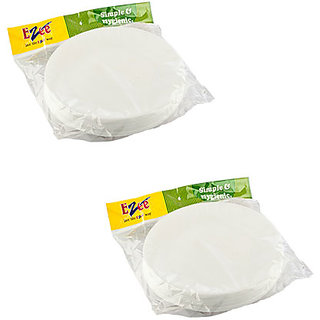 Thermocol Plates (Round 12 4 CP)  (Pack of  2 )