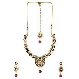 Dg Jewels Bollywood Rajwadi Necklace Set-ENS3021MG