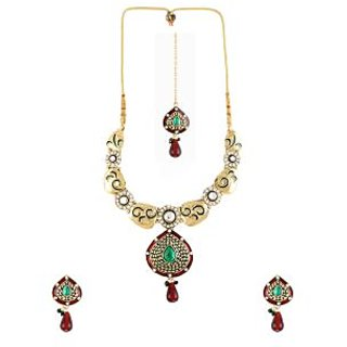 Dg Jewels Bollywood Necklace Set-ENS3023MG