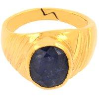 5.25 Ratti Certified Neelam-Blue Sapphire Birthstone Ring For Shani Dosh