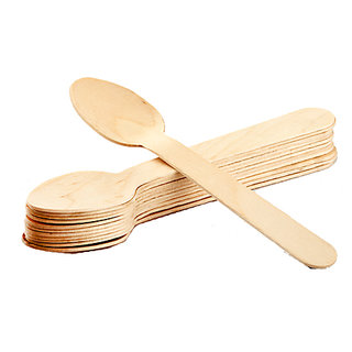 Wooden Spoon (50 Pcs) (Pack of  1 )