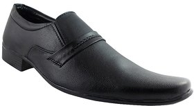 Elvace Black Realblack Formal Men Shoes-9010