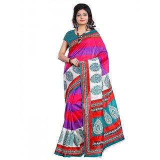 Riti Riwaz Bhagalpuri Silk casual saree with unstitched blouse NKR1016