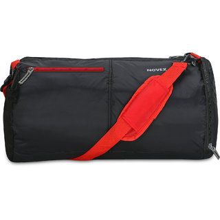 0f4f5be352 Buy Novex Black Red Nylon Small (Below 60 Cms) Gym Bag Online - Get 55% Off