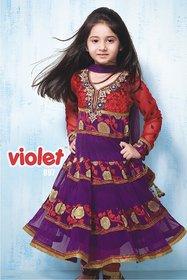 Violet girls red and purple Chudidar 897