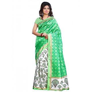 Riti Riwaz Art Silk casual saree with unstitched blouse SGR4012