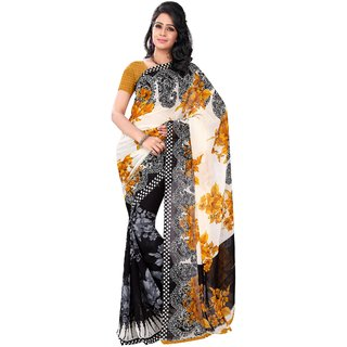 Florence Multicolor Faux Georgette Printed Saree (FL-10494)