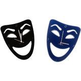 Zeeshaan Black & Blue Mask Wall Clock Combo