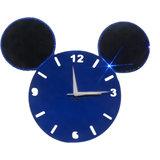 Zeeshaan Mickey Face Blue & Black Wall Clock