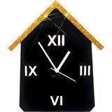 Zeeshaan Black Golden Hut Wall Clock