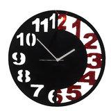 Zeeshaan Black & Red Engraved Wall Clock