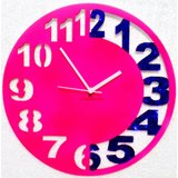 Zeeshaan Pink & Blue Engraved Wall Clock