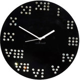 Zeeshaan Roman Numbers Black Wall Clock