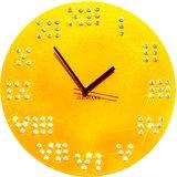 Zeeshaan Roman Numbers Yellow Wall Clock