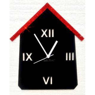Zeeshaan Red Black Hut Wall Clock