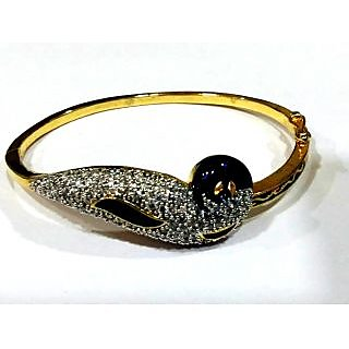 Designer American Diamond Fusion Bracelet Blue