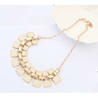 Beige Interlock Necklace